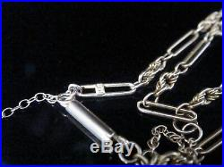 Edwardian 9ct Ornate Rose Gold Chain With Barrel Clasp 18 Inches Safety Chain