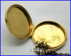 Edwardian Beautiful 9ct Gold Engraved Locket And Chain