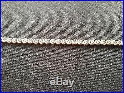 Ernest Jones 9ct Gold Diamond Tennis Bracelet 0.50 carat original box & sleeve