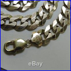 Excellent 9ct Gold Curb Necklace Chain 22 inches 87.5g 3+oz (72693)