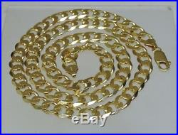 Excellent Heavy 9ct Solid Gold Curb Chain Necklace 57.3 Gram 2oz 24 in (17900L)