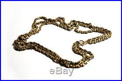 Exquisite Antique Victorian 9ct Gold Fancy-Link Muff Guard Chain 32g 3-Strand