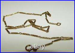 FINE, ANTIQUE VICTORIAN 9 CT GOLD CHAIN, BEAUTIFUL LINKS, 3.22 grams
