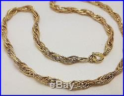 Fabulous 9ct Gold 16 1/2 Twist Link Chain Necklace. Goldmine Jewellers