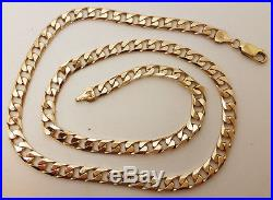 Fabulous 9ct Gold 20 Solid Curb Link Chain Necklace. Goldmine Jewellers