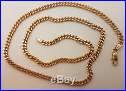 Fabulous 9ct Gold 20 Solid Plain Curb Link Chain Necklace. Goldmine Jewellers