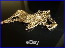 Fabulous 9ct Gold 22 Plain Curb Link Chain. 29gms