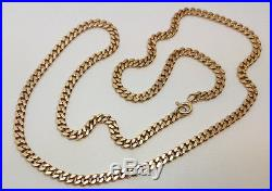 Fabulous 9ct Gold 22 Plain Curb Link Chain. Goldmine Jewellers