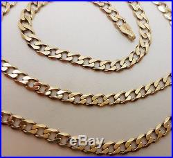 Fabulous 9ct Gold 22 Plain Curb Link Chain Necklace. Goldmine Jewellers