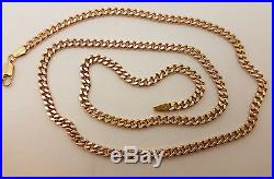Fabulous 9ct Gold 22 Solid Plain Curb Link Chain Necklace. Goldmine Jewellers