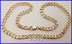 Fabulous 9ct Gold Solid 21 Solid Curb Chain Necklace. Goldmine Jewellers