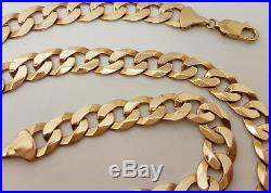 Fabulous 9ct Gold Solid 24 Curb Link Chain Necklace. Goldmine Jewellers