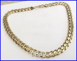 Fabulous Gents Huge Solid Heavy Full Hallmarked Massive 9ct Gold Neck Chain 87 G