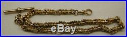 Fabulous Heavy 9ct Gold Antique Fancy Albert Watch Chain or Double Bracelet
