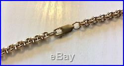 Fabulous Quality Gents Very Heavy Solid 9ct Gold Vintage 22 inch Belcher Chain
