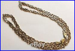 Fabulous Quality Heavy Vintage Unusual Fancy Link Ladies Or Gents 9ct Gold Chain