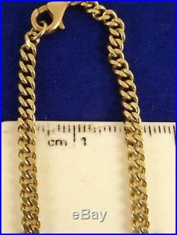 Fabulous Vintage 18 9ct Gold ALBERT CURB Chain Necklace Hm 15.8gr 3mm 407n