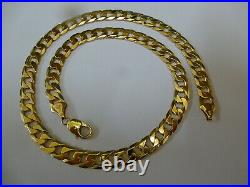 Fantastic 9ct Gold 20 Curb Chain Hallmarked