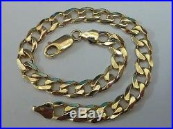Fantastic 9ct Gold 8 Curb Bracelet Fully hallmarked