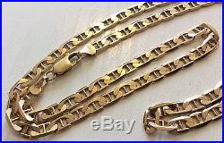 Fantastic High Quality Gents Hallmarked Solid Heavy 9ct Gold Fancy Link Chain