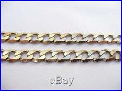 Fantastic Mens Solid 9ct Gold Heavy Curb Link Chain 23 Necklace 43.3 Grams