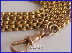 Fine 9ct / 9k 375 gold Victorian guard chain