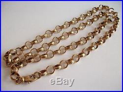 Fine 9ct / 9k 375 gold large heavy belcher chain necklace