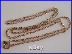 Fine 9ct / 9k 375 rose gold Victorian heavy chain necklace