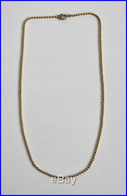 Fine 9ct gold bead ball chain necklace