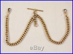 Fine Edwardian 9ct Gold DOUBLE ALBERT WATCH CHAIN. C1910 30g