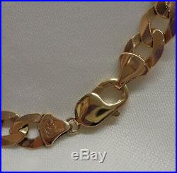 Fine Heavy Solid Curb Chain in 9ct Yellow Gold- 24 Inch (61cm) 60.7 grams
