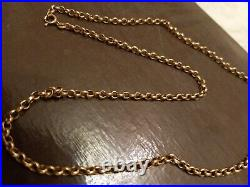 Fine Quality 9 Ct Gold Belcher Link 23 Necklace Chain 8.6 Grams
