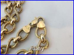 Fine large heavy 9ct gold necklace chain 9k 375