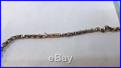 Fine victorian 9ct gold Faceted Link Belcher necklace chain 9k 375