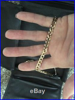 Fully Hallmarked 20 Inch 9ct Gold Curb Chain