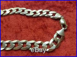 GENUINE 9CT GOLD CHUNKY CURB CHAIN NECKLACE 61CM LENGTH 62 GRAMS (refWG)