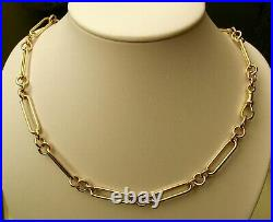 GENUINE 9K 9ct SOLID YELLOW GOLD ALBERT CHAIN FOB NECKLACE WITH SWIVEL CLASP