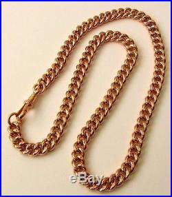 GENUINE SOLID 9K 9ct Rose Gold ALBERT CURB CHAIN NECKLACE with SWIVEL CLASP