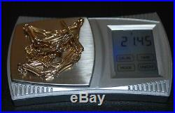 GENUINE SOLID 9ct LIGHT ROSE GOLD 44cm HANDMADE GATE CHAIN FOB, NECKLACE, 21.45g