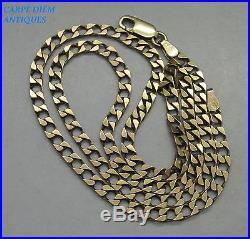 GOOD HEAVY SOLID 9CT GOLD CHAIN LINK NECKLACE, 11.5g, 48CM LONG, BIRMINGHAM 1997