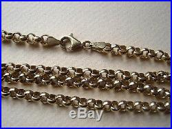GOOD QUALITY 9ct GOLD BELCHER CHAIN 8.6gm