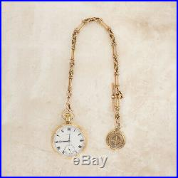 Garrard Pocket Watch and Roulette Fob On Fancy Albert Chain 18ct & 9ct Gold