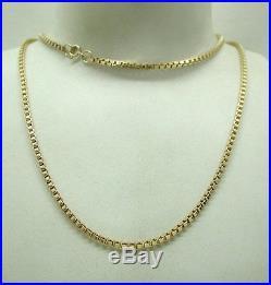 Gents / Ladies Very Heavy 9ct Gold Box Link Neckchain