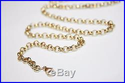 Gents Solid 9ct Gold Belcher Link Chain 28.7 Grams 24 inches
