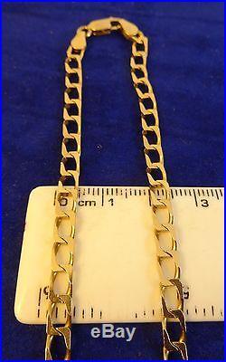 Gents Solid 9ct Gold Diamond Cut CURB Chain Necklace 12. Gr 20 Hm 4mm linkscx331