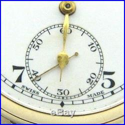 Gents/mens 9ct gold Vertex antique pocket watch and rose gold Albert chain + fob