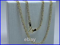 Genuine 9ct Yellow Gold 3mm Double Curb Chain Necklace 16 18 20