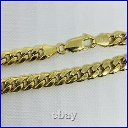 Genuine 9ct Yellow Gold 6mm Chunky Mens Cuban Chain Necklace 24 New
