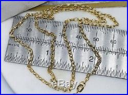 Genuine 9ct Yellow Gold Belcher Chain Necklace Necklet 1.6mm width 20 22