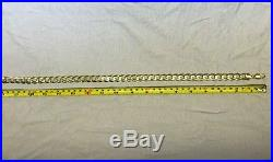 Genuine 9ct gold curb chain 18 64.7g in great condition